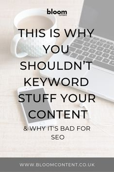 This is why you shouldn't keyword stuff your content and why it's bad for your SEO // Basic Website, Seo Consultant, Virtual Assistant Services, Seo Tools, How To Manifest, Seo Marketing, Search Engine Optimization, Growing Your Business, Business Tips