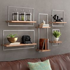 New Bucksport 5 Piece Wall Shelf Set by Trent Austin Design Home Decor Furniture. offers on top store Industrial Wall Shelves, Wood Wall Shelf, Wall Shelves Design, Display Shelves, Shelving, Glass Shelves, Traditional Bookshelves, Regal Display, Floating Corner Shelves