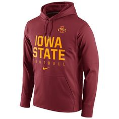 Men's Nike Iowa State Cyclones Circuit Performance Hoodie, Size: