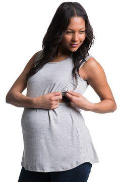 dccd13cefc671 Bun Maternity High Neck Maternity Tank