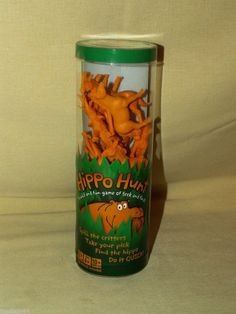 HIPPO HUNT FAMILY GAME HALLMARK COMPLETE 24 YELLOW PLASTIC ANIMALS SEEK FIND #Hallmark