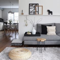 Beautiful Nordic Living Room Design Ideas 2840 - Selbermachen - Home Sweet Home Stylish Living Room, Ikea Living Room, Minimalist Living Room, Minimalist Living Room Decor, Living Room Remodel, Living Room Carpet, Home Decor, Interior Design Living Room, Nordic Living Room