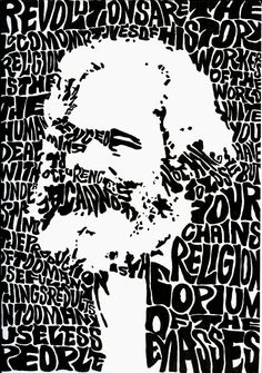 Karl Marx revolution silkscreen poster print di civildisobedience