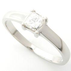 Platinum Princess Cut Diamond Solitaire Engagement Ring, Form Bespoke Jewellers, Leeds. Form Bespoke Jewellers.  #bespoke #solitaire #diamond #engagement #ring #Yorkshire