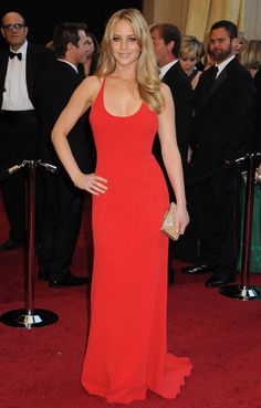 Jennifer Lawrence  Hot Pink  Dress #Fashion