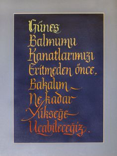 Calligraphy gotik yazı