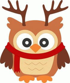 Silhouette Design Store - View Design #50342: owl christmas reindeer