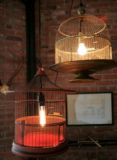 Birdcage lamps... how incredible!