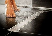 The #Aqua-Dec Linear 2 has been specifically designed to make #wetroom tiling easier. Unlike the Aqua-Dec Linear, which has four gradients, the Linear 2 models have only two gradients, which mean you don't have to mitre the tiles in the corners. Stainless steel inserts are supplied to finish the tile edges.