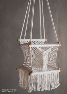 Baby Swing Chair in Macrame Soft Cotton