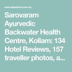 Sarovaram Ayurvedic Backwater Health Centre, Kollam:  134 Hotel Reviews,  157 traveller photos, and great deals for Sarovaram Ayurvedic Backwater Health Centre, ranked #5 of 26 hotels in Kollam and rated 4.5 of 5 at TripAdvisor All Flights, Hotel Reviews, Resort Spa, Solo Travel, Kerala, Travel Photos, Trip Advisor, Centre, Hotels