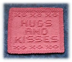Hugs & Kisses1 by Knits by Rachel, via Flickr