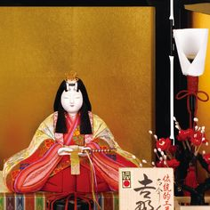 京雛 金林真多呂作 木目込親王飾り 吉野山雛 W67×D36×H32 お祝い価格 128,800円