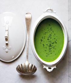Minty Pea Soup / Bon Appetite