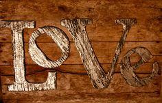 DIY LOVE Letters (cardboard & aluminum foil)