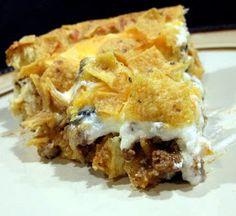 Aunt Peg's Recipe Box: Sensational Taco Pie