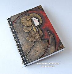 Notizbuch mit einem Einband mit Art Déco Anleihen - #notebook #diary #stationary #notizbuch #tagebuch #papier #notizbuchblog