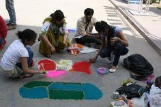 Going back to our traditional and evergreen art form of rangoli.