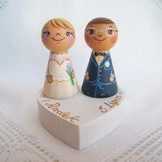 Hochzeitsdeko - Tortenfiguren Tortenaufsatz Hochzeitstorte Braut - ein Designerstück von under-angel-wings bei DaWanda