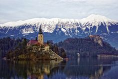 Lake Bled, Slovenia  Trish and I went here, either 1995 or 1996, it was and still is one of the most beautiful places I have been too.  If I remember correctly we went have pics of us at that castle!