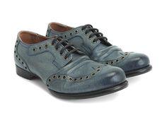 Fluevog Shoes   Shop   Pound (Blue Tie Die)   Lace-Up Derby Wingtip
