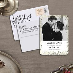 Save Up to OFF + 10 free cards on save the date cards at Shutterfly. Share the news of your special day with our beautifully designed and easily customizable save the date cards. Beer Wedding, Gatsby Wedding, Wedding Engagement, Engagement Photos, Dream Wedding, Wedding Day, Amelia Wedding, Wedding Venues, Wedding Rings