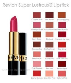 Revlon lipstick shade chart lip service pinterest revlon
