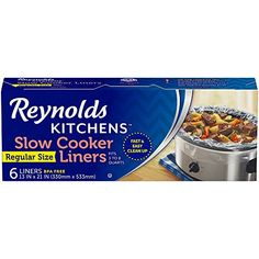 It's getting cooler which means more slow cooker meals in my house! I'm all for easy clean up and right now, we can get the Reynolds Kitchens Slow Cooker Liners (Regular Size, 6 Count) at a great price! Best Yogurt Maker, Slow Cooker Recipes, Crockpot Recipes, Easy Recipes, Chicken Recipes, Small Slow Cooker, Best Electric Pressure Cooker, Kitchen Cooker, Slow Cooker Breakfast