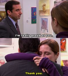 """When Michael showed up to Pam's art show. 