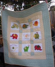 Customer Project By Devika Wignarajah / Roly Poly Elephants quilts Elephant Outline, Elephant Quilt, Elephant Applique, Cute Elephant, Machine Embroidery Projects, Embroidery Ideas, Embroidery Store, Applique Design, Projects For Kids