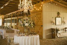 Rustic wedding reception.