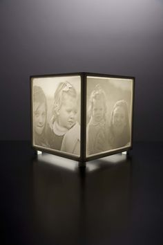 Turn treasured photos into a one-of-a-kind nightlight.