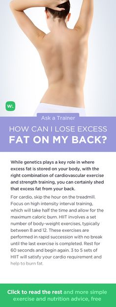 What is an effective way to lose excess fat on my back? Visit http://wlabs.me/1puhDRP to find out!