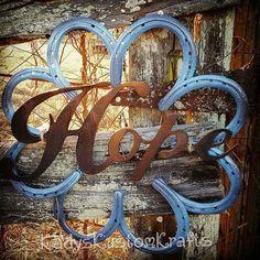 Rustic Horseshoe Wreath, Handmade Wreath Decor, Rustic Decor, Handmade Decor, Country Rustic Wreath, Hope Wall Decor,Christian decor  by KadyKustomKrafts , $67.49 USD