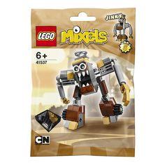 LEGO - 41537 Jinky hoort bij de LEGO Mixels-speelwereld.<br><br>LEGO presenteert voor jou en alle fans van de gelijknamige televisieserie Mixels het knotsgekke wezen Jinky. Jinky hoort bij de stam van de Klinkers en is niet alleen bijzonder groot, maar imponeert ook met een machineachtig design en een grote mond met zichtbare snijtanden. Enkele details, zoals de handen of de tenen aan de binnenkant, werden zelfs goud beschilderd. Zo ziet hij er niet alleen klassiek uit, maar doet hij ook…