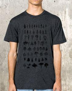 Men's Poly-Cotton T-Shirt Tree Diagram by CrawlspaceStudios