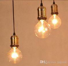 2015 Real Lamparas Colgantes New Products Retro Classic Chandelier Gold E27 Pendants Holder Edison Diy Lighting Lamps Lanterns Messenger