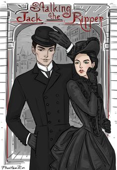 "Three days until Kerri Maniscalco's ""Stalking Jack the Ripper"" novel is released!! (http://kerrimaniscalco.tumblr.com/) Thomas & Audrey Rose"