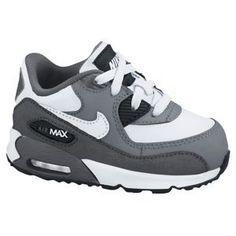 Nike Air Max 90 - Boys' Toddler - Wolf Grey/Challenge Red/Summit White/Dark Grey