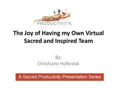 the-joy-of-having-my-own-virtual-sacred by Sacred Pro via Slideshare Virtual Assistant, Presentation, Joy, Inspiration, Biblical Inspiration, Glee, Being Happy, Inspirational, Inhalation