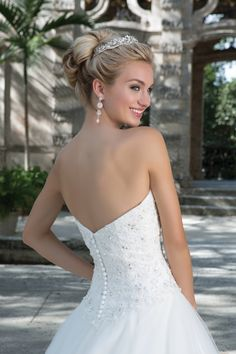 Style 3901: Beaded Sweetheart Bodice and Full Tulle Ball Gown | Sincerity Bridal