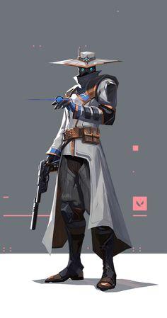 """""""Cypher, um vendedor de informações do Marrocos, é uma verdadeira rede de vigilância de um homem só que fica de olho em cada movimento dos inimigos. Nenhum segredo está a salvo. Nenhuma manobra passa despercebida. Cypher está sempre vigiando."""" Game Character Design, Fantasy Character Design, Character Design References, Character Design Inspiration, Character Concept, Character Art, Cyberpunk Character, Cyberpunk Art, Entei Pokemon"""