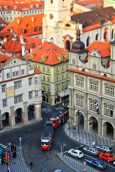 Lesser Town Square, view from Saint Nicolas Tower, Prague, Czechia Places Around The World, Travel Around The World, Around The Worlds, Places To Travel, Places To See, Wonderful Places, Beautiful Places, Amazing Places, Saint Marin
