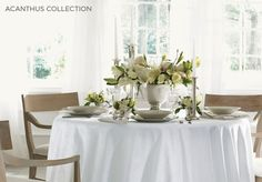 Love the round table and the center piece!