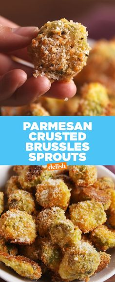 Give me Parmesan Crusted Brussels Sprouts, or give me death. Get the recipe from Delish.com.