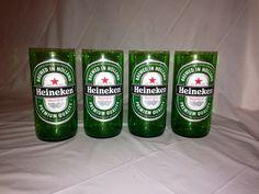 Upcycled Heineken Beer Bottle Glasses on Etsy, $20.00