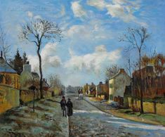 A Road in Louveciennes Camille Pissarro by PaintingMania on Etsy