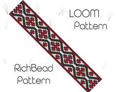 Flower bead loom bracelet pattern PDF seed beaded bracelet