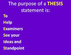 Writing Essays: 3a Formulating a Thesis Statement