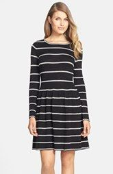 Eliza J Knit Fit & Flare Dress (Regular & Petite)